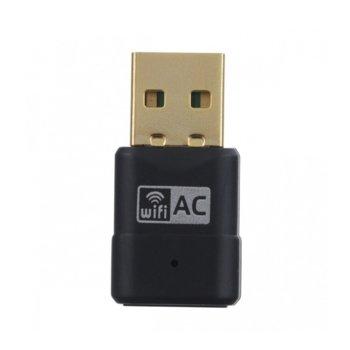 Мрежови адаптер, 433Mbps, Wi-Fi стандарт 802.11ac, USB 2.0 image