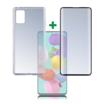 Протектор от закалено стъкло /Tempered Glass/, 4Smarts, за Samsung Galaxy A51, силиконов (TPU) кейс image