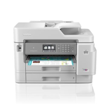 Мултифункционално мастиленоструйно устройство Brother MFC-J5945DW, цветен принтер/копир/скенер/факс, 4800 x 1200 dpi, 22 стр./мин, LAN, Wi-Fi, NFC, USB, A3 image