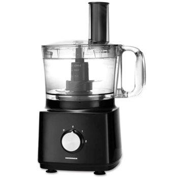 Кухненски робот Heinner HFP-750BK, 750W, 2 скорости + опция PULSE, 1.8L капацитет на блендера, 1.2L капацитет на купата, остриета от неръждаема стомана, черен image