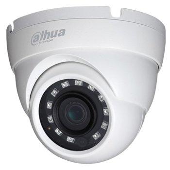 HDCVI камера Dahua HAC-HDW1500M-0280B, куполна, 5 Mpix(2592x1944@20fps), 2.8mm обектив, IR осветеност (до 30м), външна IP67 image