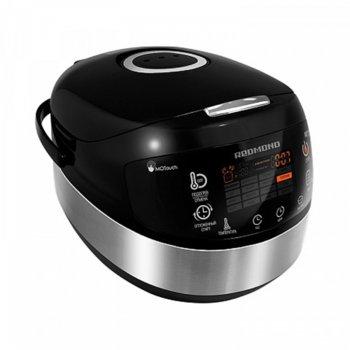 Мултифункционален уред за готвене Redmond RMC-M95-E, 1000 W, капацитет 5л, 17 броя автоматични програми, цветен LED дисплей, незалепващо покритие, аксесоари, черен image
