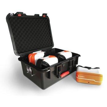 """Очила за виртуална реалност ClassVR CVR-CRS-4-A, 4 броя, за ученици и учители, със зарядна кутия, 4000 mAh батерия, 5.5"""" (13.97 cm) QHD дисплей, Wi-Fi, Bluetooth, USB, бели image"""