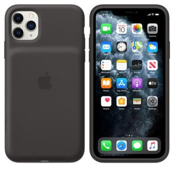 Калъф за Apple iPhone 11 Pro Max, силиконов, Apple Smart Battery Case mwvp2zm/a, с батерия, черен image