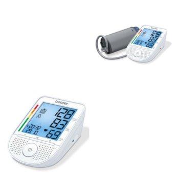 Апарат за кръвно налягане Beurer BM 49, индикатор за правилно поставен маншет, индикатор за аритмия, автоматично изключване, функция за дата и час, бял image