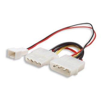 Захранващ кабел Manhattan 330411, от 4-pin(м) към Molex(ж), 0.2m image