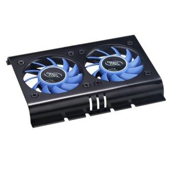 """Охлаждане за твърди дискове 3.5"""" (8.89 cm), DeepCool ICEDISK 2, 2 вентилатора image"""