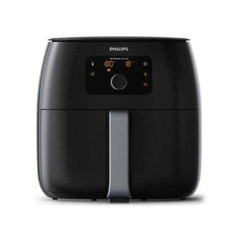 Фритюрник Philips HD9650/90, 1,4 кг, aвтоматично изключване, технология Rapid Air, технология Twin TurboStar, 2225 W, черен image