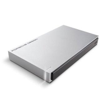 """Твърд диск 1TB Lacie Porsche Design STET1000403 (сив), външен, 2.5"""", USB 3.0 image"""