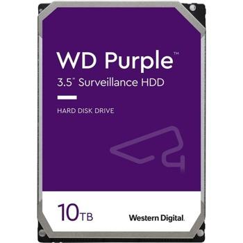 "Твърд диск 10TB WD Purple Surveillance, SATA 6Gb/s, 7200 rpm, 256MB, 3.5"" (8.89 cm) image"