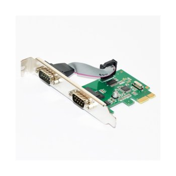 Контролер Makki MAKKI-PCIE-2XSERIAL-V1, от PCI-E x2 към 2x Serial(DB-9)(м) image