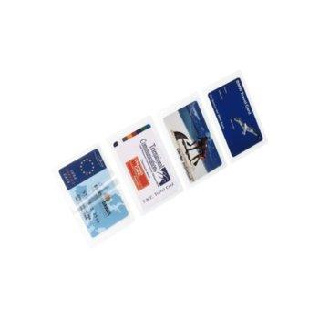 Ламин.фолио, HAMA-50060, за визитки, 125 микрона, 100листа/пакет, 67 х 98 мм image