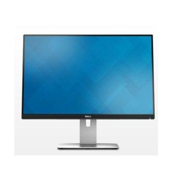 """Монитор Dell U2415 (U2415_5Y), 24.1"""" (61.21 cm) IPS панел, Full HD, 6ms, 2000000:1, 300 cd/m2, DisplayPort, HDMI, USB  image"""