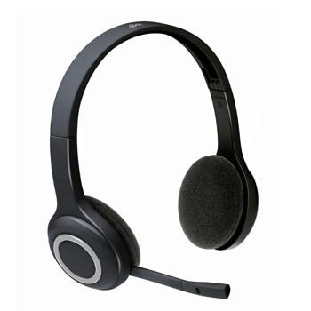 Слушалки Logitech H600, безжични, микрофон, сгъваеми, черни image