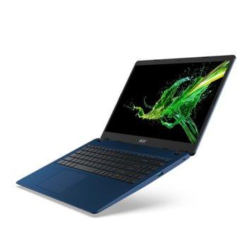 "Лаптоп Acer Aspire 3 A315-54K-35BE (NX.HFYEX.005)(син), двуядрен Kaby Lake R Intel Core i3-8130U 2.2/3.4 GHz, 15.6"" (39.62 cm) Full HD LCD LED Anti-Glare Display, (HDMI), 4GB DDR4, 1TB HDD, 1x USB 3.0, Linux image"