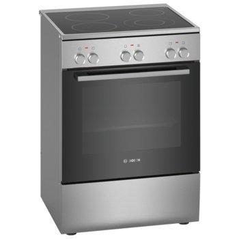 Готварска печка Bosch HKA090150, клас A, 66л. обем, стъклокерамичен готварски плот с 4 нагревателни зони, 7 начина на нагряване, 3D HotAir, инокс image