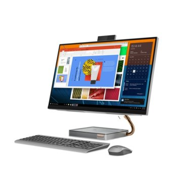 "All in One компютър Lenovo IdeaCentre AIO A540 (F0EK00A5RI), шестядрен Coffee Lake Intel Core i5-9400T 1.8/3.4 GHz, 27"" (68.58 cm) WQHD IPS 10-point Multi-touch Display, 8GB DDR4, 512GB SSD, 2x USB 3.1, Windows 10 Home  image"