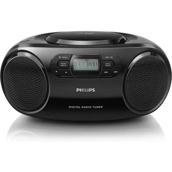 Аудио система Philips AZB500, 2.0, 3W, 3.5mm jack, FM, черен image