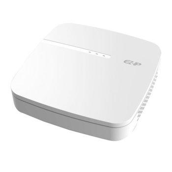 IP видеорекордер Dahua NVR1B04-4P, 4 канален, H.265/H.264/MJPEG, 1x SATA up to 6TB, 2x USB, 1x LAN 100 Mbps, HDMI, VGA image
