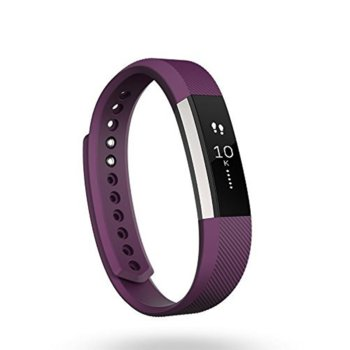 Смарт гривна Fitbit Alta Large Size, Bluetooth, OLED Tap Display, Mac OS X 10.6 (или по-нова), iPhone 4S (или по-нова), iPad 3 gen. (или по-нова), Android and Windows 10 devices, лилава image