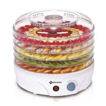 Уред за сушене на плодове и зеленчуци Rohnson R 289, регулиране на температурата 35-70 C, вентилатор за равномерно сушене, 245W image
