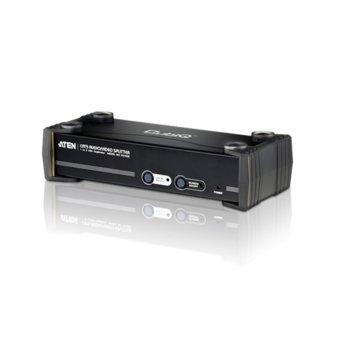 Видео сплитер ATEN VS1508, 1x HDB-15(VGA)(м), 1x 3.5мм жак(ж),1x RS-232(ж) към 1x HDB-15(VGA)(ж), 8x RJ-45(ж), 1x RS-232(м), 1x 3.5мм жак(ж), 1 устройство image