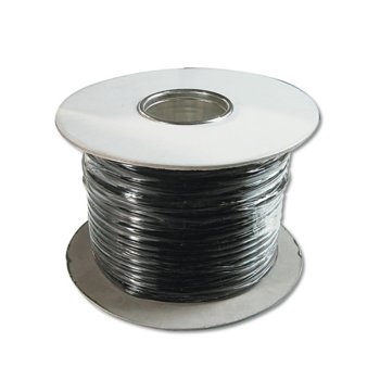 Плосък телефонен кабел (ролка) Digitus, 4ж, 100м, черен image