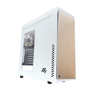 Кутия Zalman R1 White, ATX, бяла, прозорец USB 3.0, без захранване image