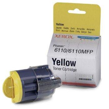 КАСЕТА ЗА XEROX Phaser 6110/6110N/6110MFP/S/X - Yellow - P№ 106R01204 - заб.: 1000k image