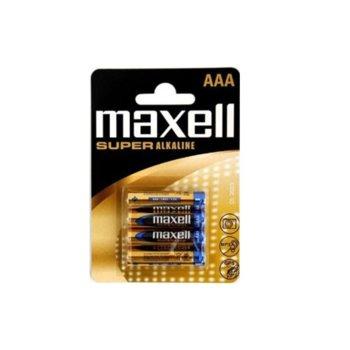 Батерии алкални Maxell Super ААА, 1.5V, 4 бр.  image