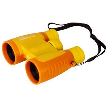 Бинокъл Bresser Junior 3x30, за деца, 3x оптично увеличение, 30cm апертура, жълт image