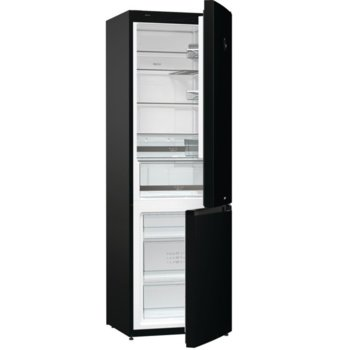 Хладилник с фризер Gorenje NRK612SYB4, клас А++, 329 л. общ обем, свободностоящ, 233 kWh/годишно, NoFrost Plus, бързо охлаждане, AdaptTech: адаптивна интелигентна система, черен image