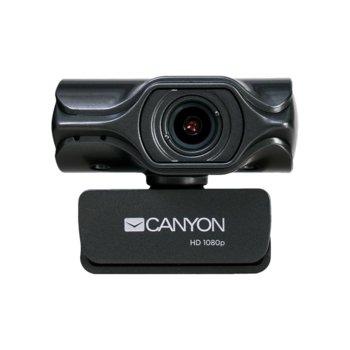 Уеб камера Canyon CNS-CWC6N, микрофон, 3.2 MPix (2048x1536/20FPS), UHD стъклен обектив, USB 2.0, черна image