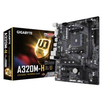 Дънна платка Gigabyte A320M-H (rev1.1), A320, AM4, DDR4, PCI-E (DVI-D, HDMI), 4x SATA 6Gb/s, 1x M.2, 4x USB 3.1 Gen 1, RAID 1/0/10, Micro ATX image