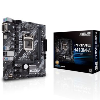 Дънна платка Asus PRIME H410M-A-CSM, H410, LGA1200, PCI-E 3.0 (HDMI&VGA&DVI-D), 4x SATA3, 1x M.2, 2x USB 3.2 Gen 1, mATX image