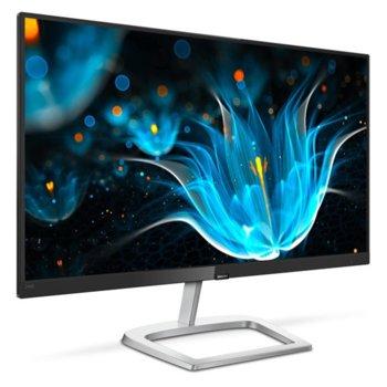 """Монитор Philips 246E9QDSB, 23.8"""" (60.45 cm), IPS панел, Full HD, 5ms, 1000:1, 250cd/m2, HDMI, DVI-D, VGA  image"""