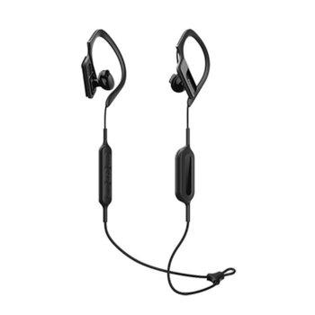 Слушалки Panasonic RP-BTS10E-K, безжични (Bluetooth), микрофон, 4 часа и 20 мин. време за работа, водоустойчиви, черни image