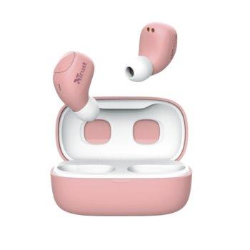 Слушалки TRUST Nika Compact, безжични, Bluetooth, микрофон, до 8 часа време на работа, розови image