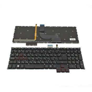 Клавиатура за Acer Predator 17 G5-793/G9-791, UI, кирилица, с подсветка, черна image