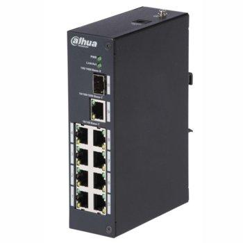 Суич Dahua PFS3110-8T, 4.17Mpps, 8портов +1GE+1GE SFP, неуправляем image