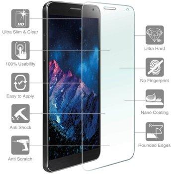 Протектор от закалено стъкло /Tempered Glass/, 4smarts, за Alcatel Idol 4 (смартфон) image
