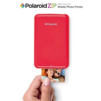 """Мобилен принтер Polaroid ZIP, мастиленоструен, Standard micro USB, (500 mAh) батерия несменяема ,2x3"""" full-color prints, червен image"""