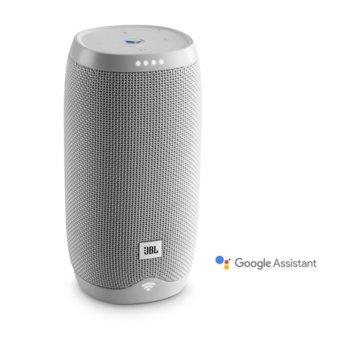 Тонколона JBL Link 10, 2.0, 16W, Bluetooth 4.2, Wi-Fi (2.4GHz/5GHz), бяла, до 5 часа време за работа, IPX7 водозащита, вграден микрофон image