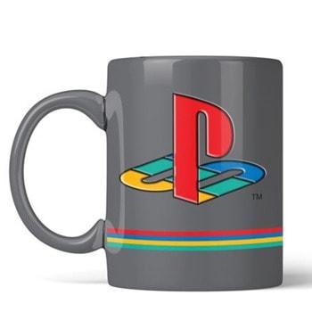 Чаша PlayStation 25th Anniversary Pin Badge, керамична, сива image