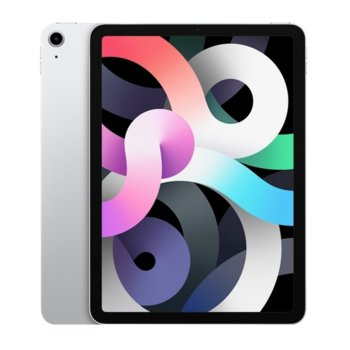 "Таблет Apple iPad Air 4 Wi-Fi (MYFW2HC/A)(сребрист), 10.9"" (27.69 cm) Retina дисплей, шестядрен A14 Bionic, 4GB RAM, 64GB Flash памет, 12.0 & 7.0 MPix камера, Ipad OS image"