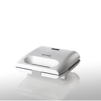 Сандвич скара Gorenje SM701GCW, грил плоча, алуминий, индикатор за температура, 700W, металик image