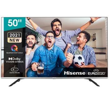"""Телевизор Hisense 50E76GQ, 50"""" (127 cm) 4K/UHD QLED Smart TV, DVB-T2/C/S2, LAN, Wi-Fi, 3x HDMI, 2x USB image"""