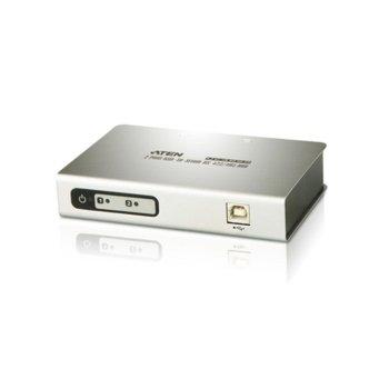 KVM суич ATEN UC4852, от 1x USB B(ж) към 2x DB-9(ж), 1 устройство image