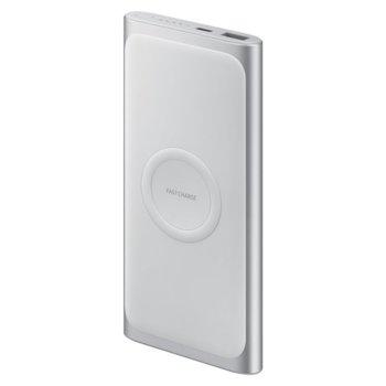 Външна батерия/power bank/ Samsung External Wireless Battery Pack, 10000 mAh, бързо зареждане, сребриста image