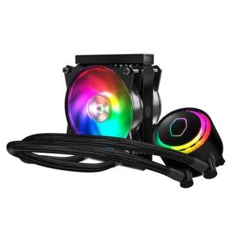 Водно охлаждане за процесор CoolerMaster MasterLiquid ML120R RGB, съвместимост с LGA2066/2011-v3/2011/1151/1150/1155/1156/1366/775 & AMD AM4/AM3(+)/AM2(+)/FM2(+)/FM1 image